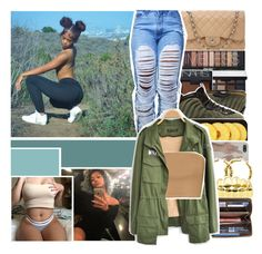 """"""""""" fυck these shady αss nιggas sayin that they could save me"""""""" by baestation ❤ liked on Polyvore featuring Chanel, NARS Cosmetics, NIKE, Lindt and Louis Vuitton"""