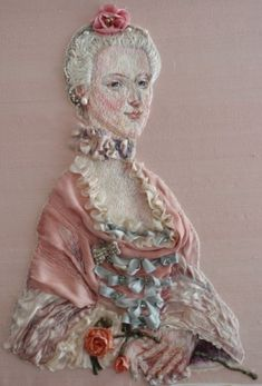 Log in to your Etsy account. Silk Ribbon Embroidery, Embroidered Silk, Beaded Embroidery, Cross Stitch Embroidery, Hand Embroidery, Portrait Embroidery, Marie Antoinette, Belle Epoque, Baroque Art
