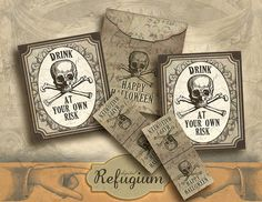 Halloween printable Tea bag envelopes/ INSTANT by digitalRefugium