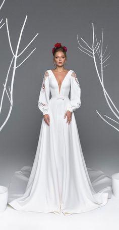 Eva Lendel – Eva Brautkollektion, Einfaches Brautkleid, Meer