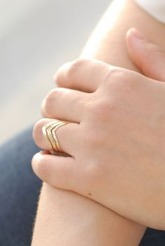 Gold Plated Rings – Vassily Ring, unique gold jewellery, minimalistic accessories – a unique product by TheBlossomBohemian via DaWanda.com