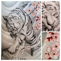 ...aaand done, another tiger to my portfolio #tiger #cherryblossom #japanese…
