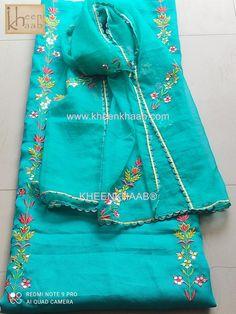 Punjabi Suits Designer Boutique, Boutique Suits, Indian Designer Suits, Embroidery Suits Punjabi, Hand Embroidery Dress, Kurti Embroidery Design, Latest Punjabi Suits Design, Patiala Suit Designs, Fancy Dress Design