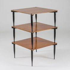 """Set of Three """"T8"""" Stackable Tables by Vico Magistretti for Azucena 2"""