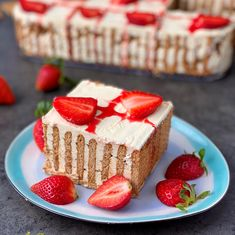 Sweets Recipes, Baking Recipes, Cake Recipes, Torta Recipe, Eclair, Strawberry Recipes, Food Cakes, Food Design, No Bake Cake