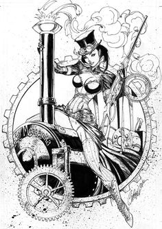 Lady Mechanika #1 by J Scott Campbell Comic Art