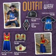 Outfit of the Week - Wonder Woman and Captain America themed!