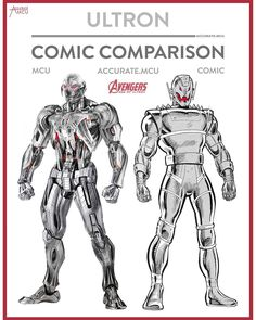 "8,019 curtidas, 77 comentários - • Accurate.MCU • mcu fanpage (@accurate.mcu) no Instagram: ""• ULTRON - COMIC COMPARISON 2.0 • I know not a lot of people will agree with me but I like the MCU…"""