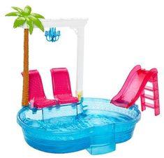 Buy Barbie Glam Pool securely online today at a great price. Barbie Glam Pool available today at Stunning Dolls Store : Buy Now! Mattel Barbie, Girl Barbie, Dreamhouse Barbie, Accessoires Barbie, Pink Slides, Pool Toys, Barbie Dream House, Barbie Accessories, Pool Accessories