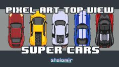 Pixel Art Top View Super Cars has just been added to GameDev Market! Check it out: http://ift.tt/1MriLW9 #gamedev #indiedev
