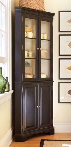 Coastal Cottage Style Furniture - Display Cabinets & Secretaries - Cashiers Corner Cabinet - Cottage Haven Interiors