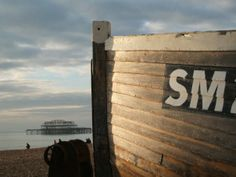 Fishing boat on Brighton beach