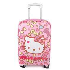 Washable Foldable Luggage Cover Protector Fits18-21 Inch Suitcase Covers Giraffes And Hearts