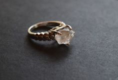 Raw Diamond Engagement Ring Rough Diamond Jewelry by Avello