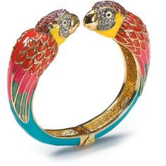 Juicy Couture Palm Beach Poolside Parrot Bangle found on Polyvore