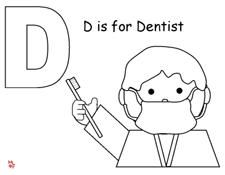 Coloring Page for Dental Health from Making Learning Fun.