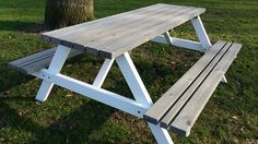 PICKNICKTAFEL BI COLOR 1.80m/4cm dikte Picnic Table, Backyard, Gardens, Color, Water, Home Decor, Types Of Wood, Things To Do, Gripe Water