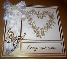 made using a stamp by Chloe with wow poders and tattered lace butterfly die Congrats Cards, Congratulations, Wedding Anniversary Cards, Wedding Cards, Chloes Creative Cards, Stamps By Chloe, Hand Made Greeting Cards, Engagement Cards, Unique Cards