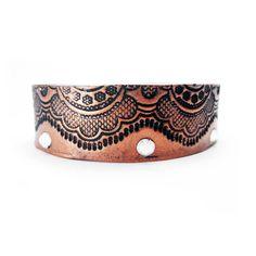 Cuff Copper Lace Handmade bangle Copper Cuff Bracelet by BuyMyCrap
