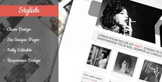 Stylish - Clean & Flexible PSD Template - http://gumbum.com/product/stylish-clean-flexible-psd-template/