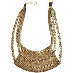 FIONA PAXTON Chain Bib Necklace ($350) ❤ liked on Polyvore
