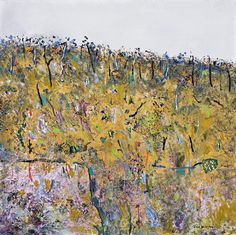 Blackwood Wattle, 1976 by Fred Williams Contemporary Art Artists, Contemporary Landscape, Abstract Landscape, Landscape Paintings, Abstract Art, Landscapes, Australian Painting, Australian Artists, Fred Williams