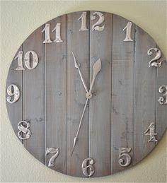 DIY Wall Clock Tutorial  Whitewashed Shabby chic French country rustic Swedish decor idea