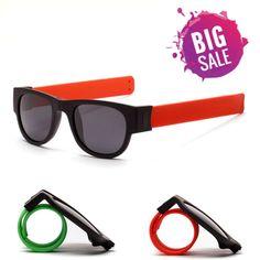 Wristband Fold-able Polaroid UV Protection Male & Female Snap Sunglasses 🕶️ - Topezone Cool Sunglasses, Polaroid, Free Shipping, Amp, Female, Check