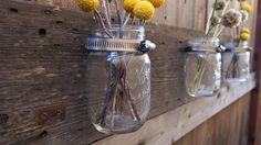 Step by step - how to make barn wood mason jar holder