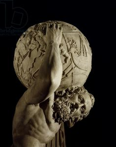 Atlas, copy of a Greek Hellenistic original, detail