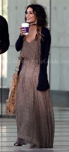 Seen on Celebrity Style Guide: Vanessa Hudgens at an office building in Los Angeles - April 22, 2011