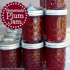 15 Homemade Jam Recipes You Have To Try Homemade Plum Jam Recipe Plum Jam Recipes, Jelly Recipes, Fruit Recipes, Wild Plum Jam Recipe, Plum Bread Recipe, Drink Recipes, Recipies, Canning Food Preservation, Preserving Food