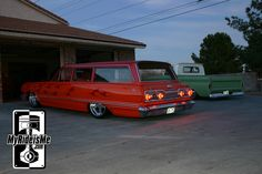 Not just anybody can take a perfectly good Impala wagon and shave it, paint it, then lay it out. Yet that's what happened here - and the result is awesome. Chevrolet Impala, Chevy, Station Wagon Cars, Hot Rod Pickup, Old Cars, Hot Rods, Van, Impalas, Grills
