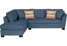 picture of Cindy Crawford Calvin Heights Indigo 2Pc Sectional  from Sectionals Furniture