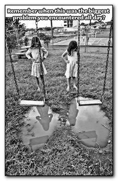 Biggest problem indeed... =)   #memories #childhood