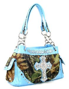 61c4fe97c906 Camo rhinestone cross purse shoulder bag pink blue orange brown green purple