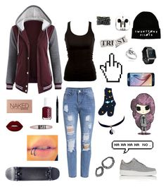 """Senza titolo #25"" by alicemasiero ❤ liked on Polyvore featuring PhunkeeTree, NIKE, Urban Decay, Fitbit, Givenchy, Samsung, Essie, Lime Crime, Maybelline and Chicnova Fashion"