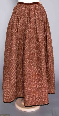 Hand Quilted Winter Petticoat (image 1) | 1850s | Augusta Auctions | November 16, 2016
