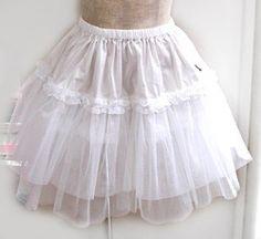 Crinolines, wore 2 or 3 under a full skirt.
