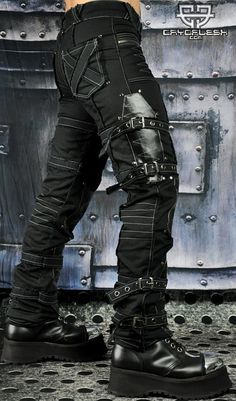 Cryoflesh Apocalypse Post Apocalyptic Cyber Goth Industrial Tactical Pants 60264