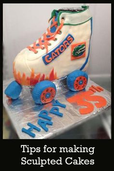 Roller Skate Cake-  Great decorating tips here.