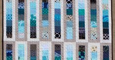"""It isn't often I make a quilt froma pattern, but I was searching for agood use fora towering stack of 2 1/2"""" square scraps. The Rolle..."""
