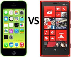 Apple iPhone 5C vs Nokia Lumia 920 - Full Specifications, Price