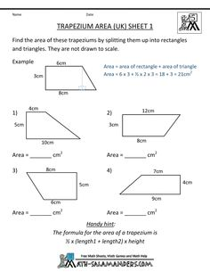 1000+ ideas about Trapezium Area on Pinterest | Parallelogram Area ...