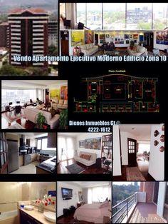 Vendo Apartamento Ejecutivo Moderno Edificio Zona 10 2 Dormitorios 3.5 Baños 2 Parqueos acabados de lujo, sistema de sonido Bose, Cocina y lavanderia equipadas stainles steel, balcones, baño completo y closet servicio. Edificio con area infantil, salones sociales , biz center, lobby, seguridad Excelente ubicacion muy cerca de los mas importantes centros sociales y financieros de la Ciudad de Guatemala. Venta $ 375,000 4222-1612 y 5184-4109 Visitenos en Facebook : Bienes Inmuebles Gt