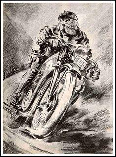 1935 German Motorcycle illustration by bullittmcqueen on Flickr.