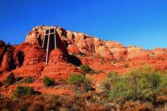 Chapel of the Holy Cross, Sedona, Az. The church is built into the red rocks of Sedona and is multi leveled. Beautiful!