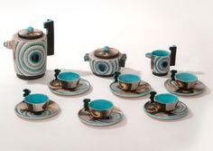 Nicolaj Diulgheroff, Tullio d'Albisola Mazzotti, Servizio Caffè, 1930-3, ceramic, collection of Esa Mazzotti, Albissola Marina (SV), Italy.