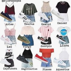I am a libra and these are zodiac casual outfits. Teen Fashion Outfits, Swag Outfits, Mode Outfits, Girl Outfits, Casual Teen Fashion, Retro Fashion, Cute Outfits For School, Outfits For Teens, Trendy Outfits