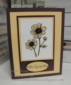 Stampin' Up!- A clean & simple sympathy card created with the hostess set- 'Bloom with Hope'.